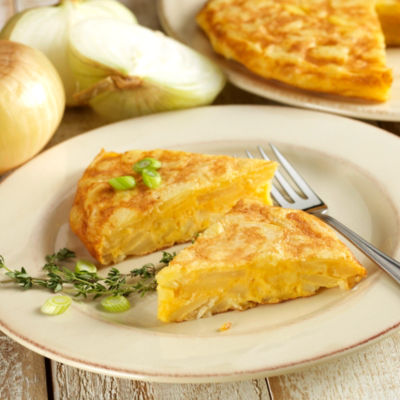 2 Premium Tortilla Española Potato Omelets with Onions