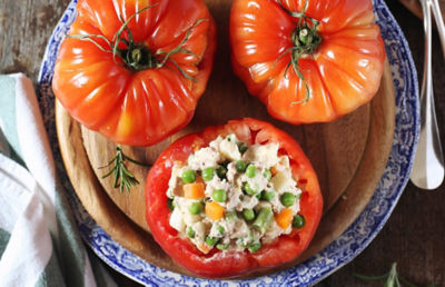 Tomatoes Stuffed with Potato Salad Recipe