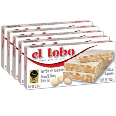 5 Boxes of Alicante Turron 'Duro' by El Lobo