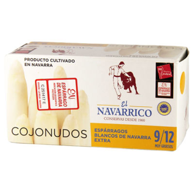 White Asparagus Spears by El Navarrico - Very Thick Grade, 9-12 Count
