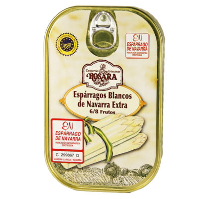 White Asparagus Spears by Rosara - 6-8 Count