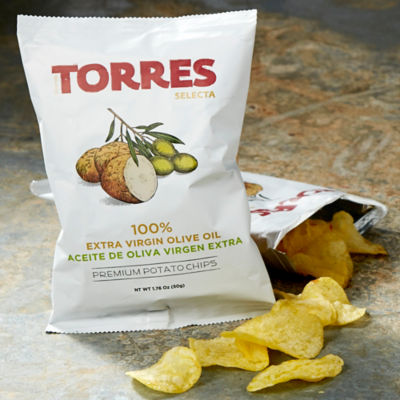 6 Packages of Potato Chips Cooked in Extra Virgin Olive Oil by Torres