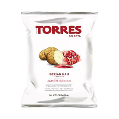6 Packages of Jamón Ibérico Potato Chips by Torres