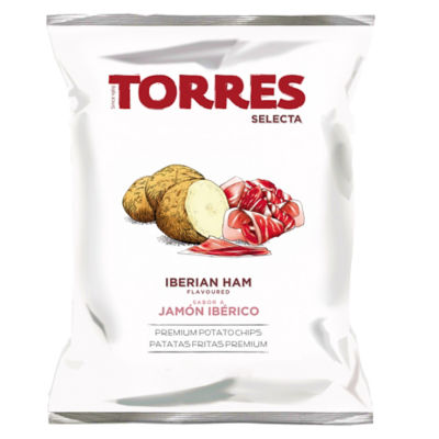 3 Large Packages of Ibérico Ham Potato Chips by Torres