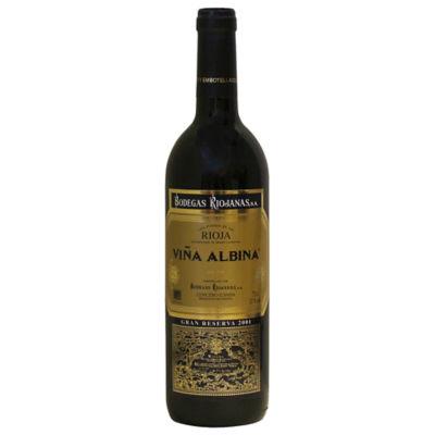 Viña Albina Gran Reserva 2001 by Bodegas Riojanas